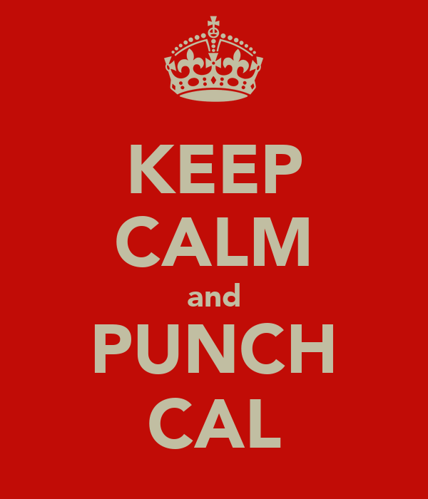 KEEP CALM and PUNCH CAL