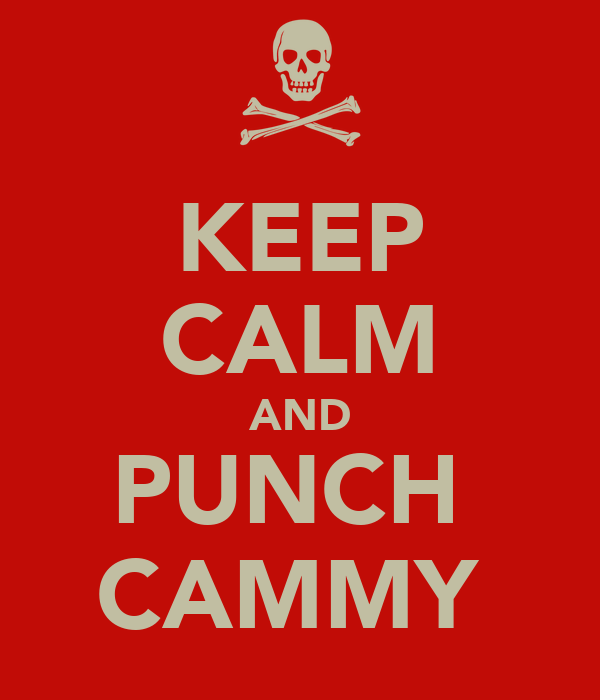 KEEP CALM AND PUNCH  CAMMY
