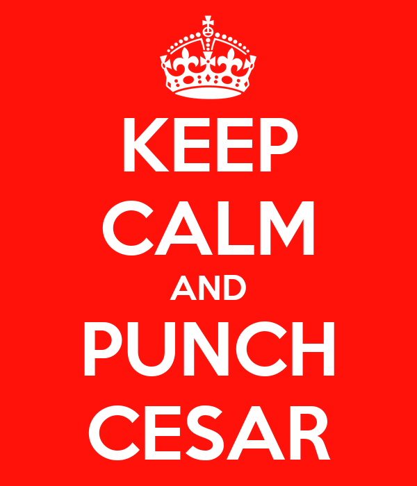 KEEP CALM AND PUNCH CESAR