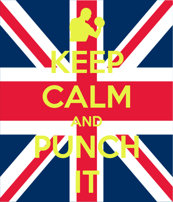 KEEP CALM AND PUNCH IT