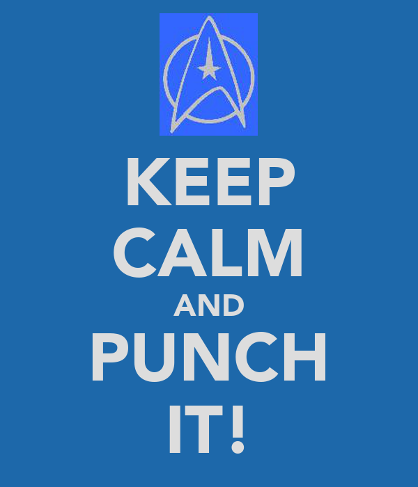 KEEP CALM AND PUNCH IT!