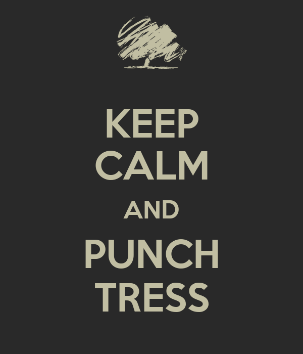 KEEP CALM AND PUNCH TRESS