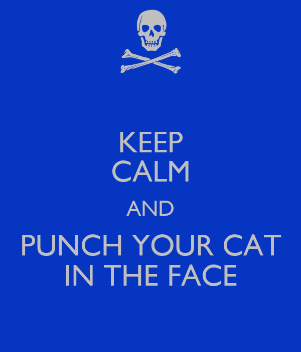 KEEP CALM AND PUNCH YOUR CAT IN THE FACE