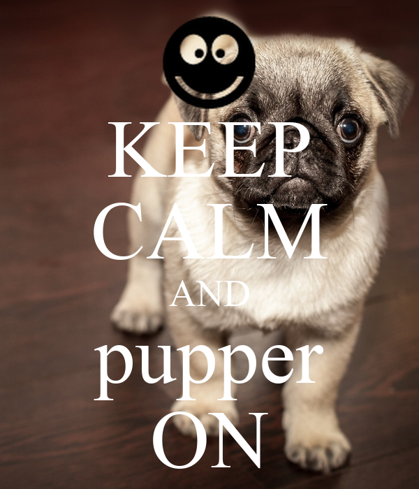 KEEP CALM AND pupper ON