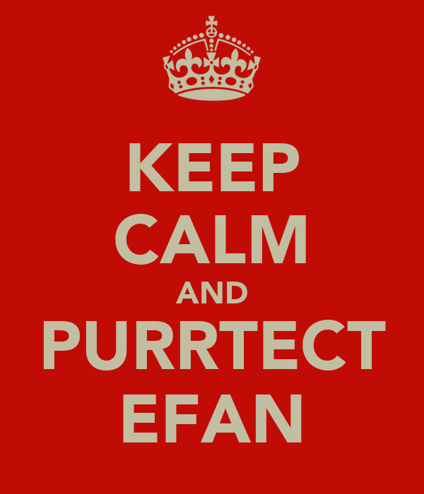 KEEP CALM AND PURRTECT EFAN
