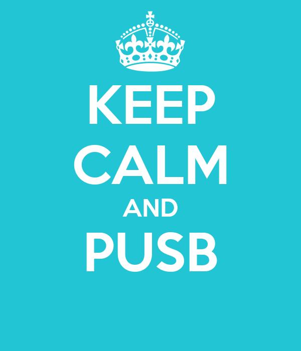 KEEP CALM AND PUSB
