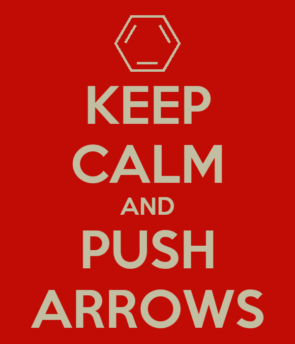 KEEP CALM AND PUSH ARROWS