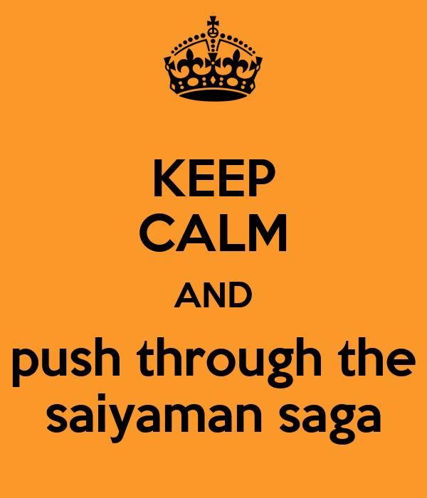KEEP CALM AND push through the saiyaman saga