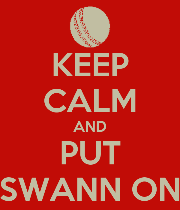 KEEP CALM AND PUT SWANN ON