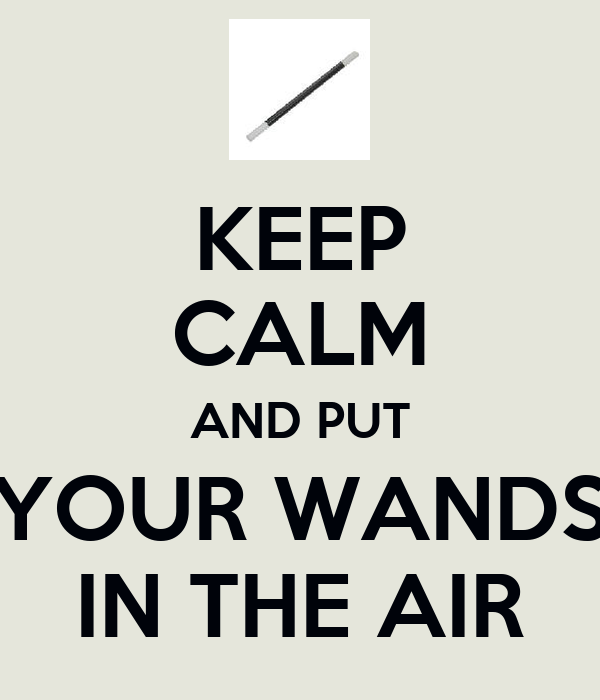 KEEP CALM AND PUT YOUR WANDS IN THE AIR