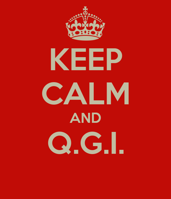 KEEP CALM AND Q.G.I.