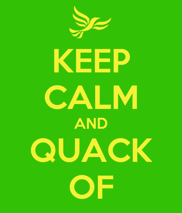 KEEP CALM AND QUACK OF