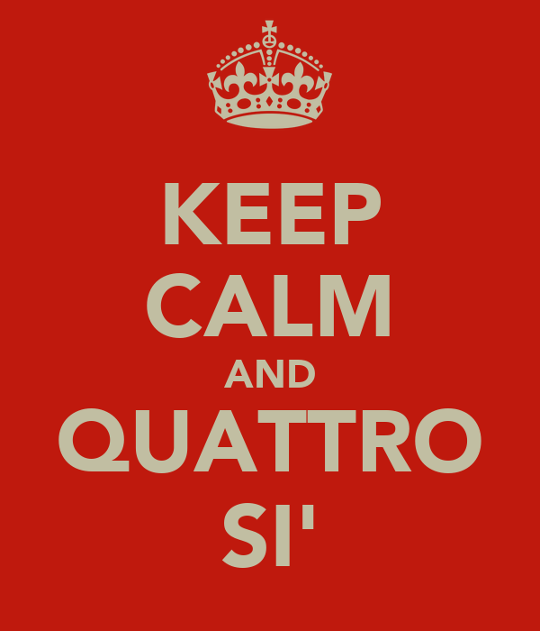KEEP CALM AND QUATTRO SI'