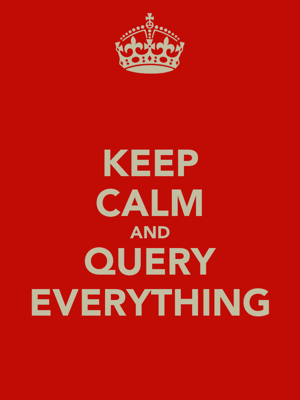 KEEP CALM AND QUERY EVERYTHING