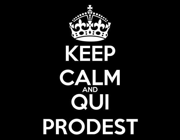 KEEP CALM AND QUI PRODEST Poster   apovedam   Keep Calm-o-Matic
