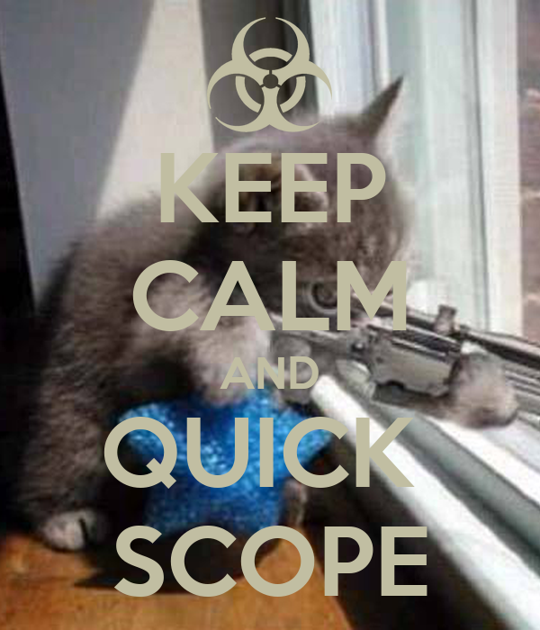 KEEP CALM AND QUICK  SCOPE