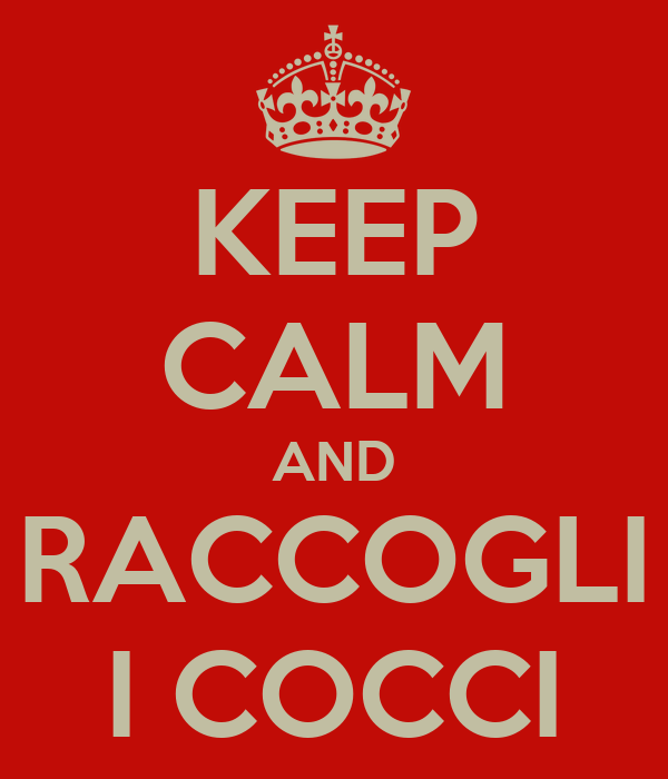 KEEP CALM AND RACCOGLI I COCCI