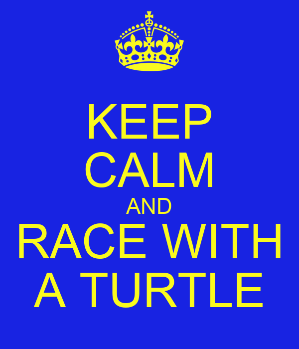 KEEP CALM AND RACE WITH A TURTLE