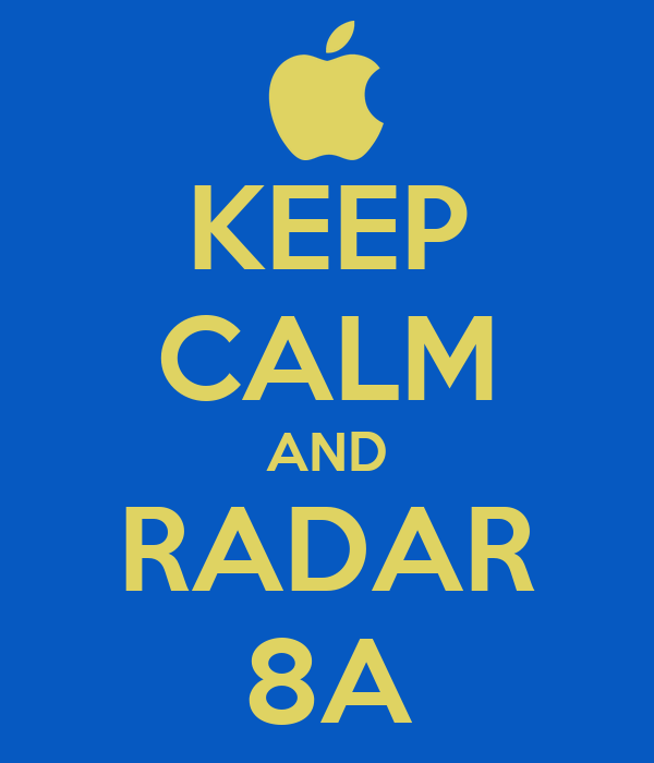 KEEP CALM AND RADAR 8A