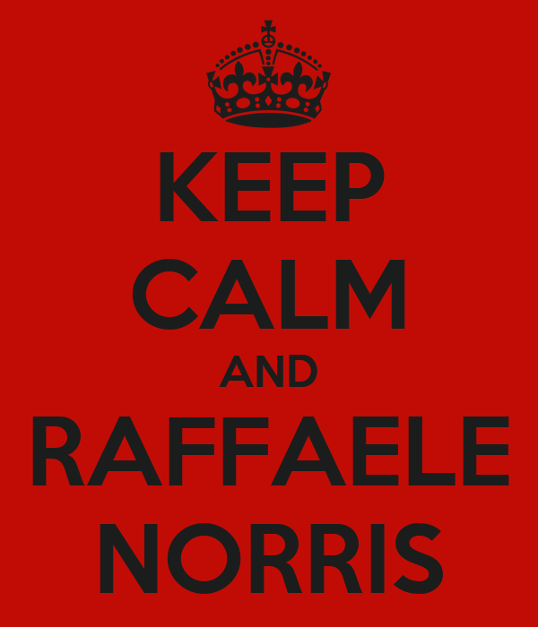 KEEP CALM AND RAFFAELE NORRIS