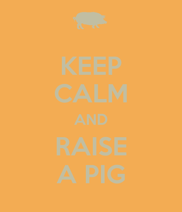 KEEP CALM AND RAISE A PIG