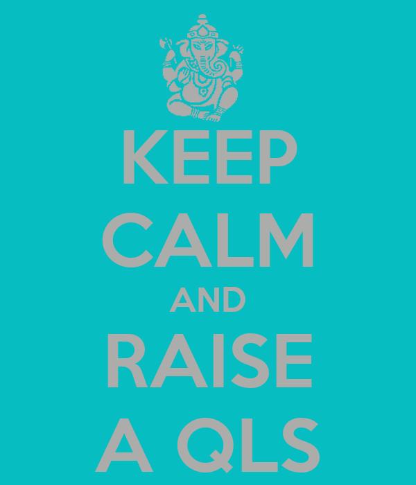 KEEP CALM AND RAISE A QLS