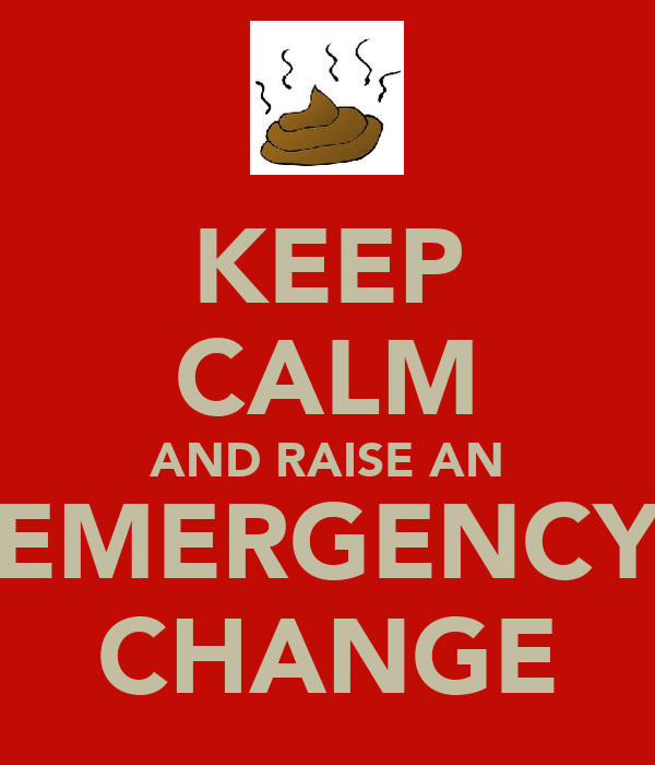KEEP CALM AND RAISE AN EMERGENCY CHANGE