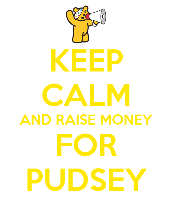 KEEP CALM AND RAISE MONEY FOR PUDSEY