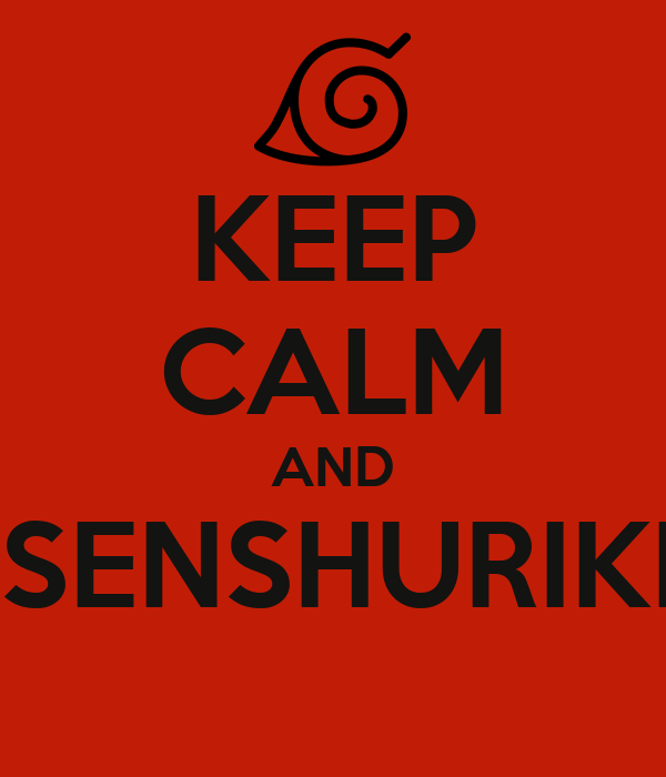 keep calm and rasenshuriken poster venzo keep calm o matic