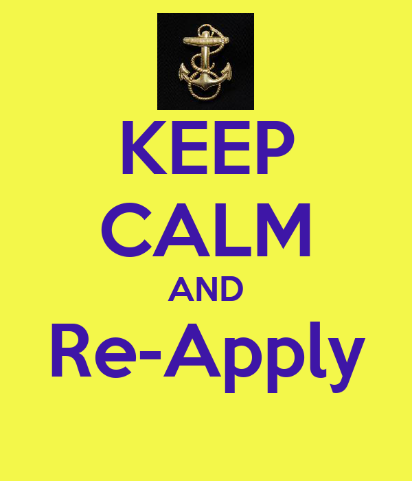 KEEP CALM AND Re-Apply