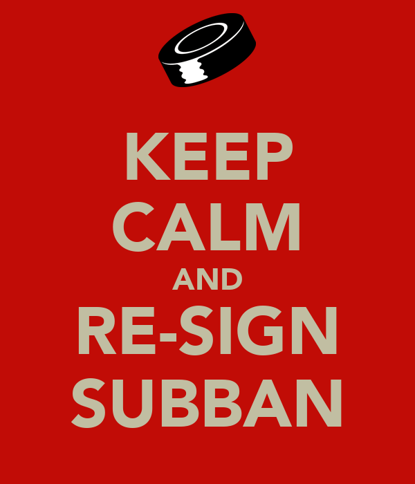 KEEP CALM AND RE-SIGN SUBBAN