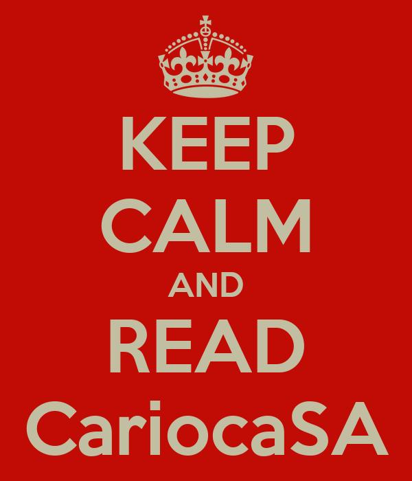 KEEP CALM AND READ CariocaSA