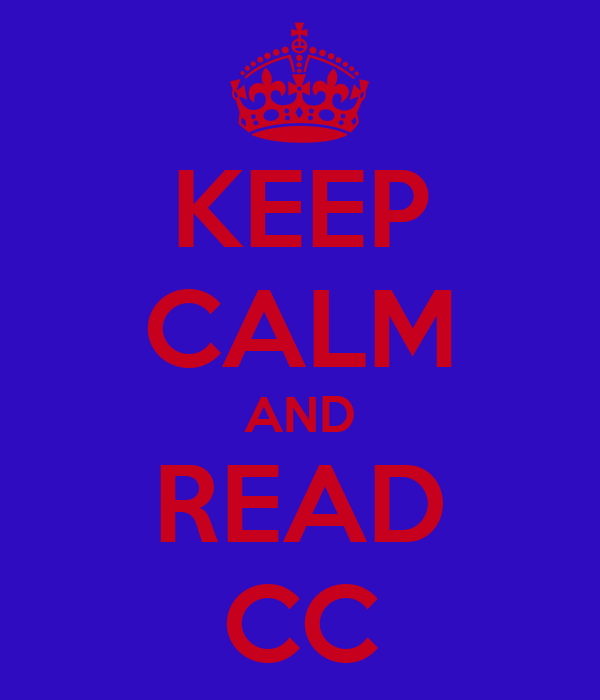 KEEP CALM AND READ CC