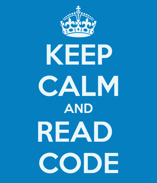 KEEP CALM AND READ  CODE