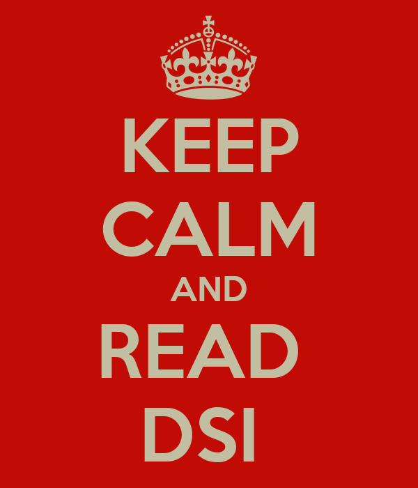 KEEP CALM AND READ  DSI