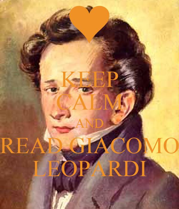 KEEP CALM AND READ GIACOMO LEOPARDI