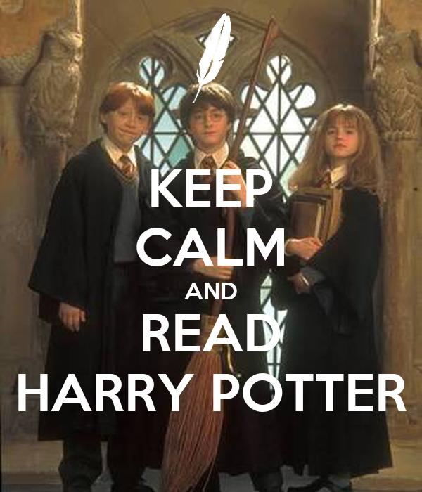 keep calm and read harry potter poster taranunsurakit