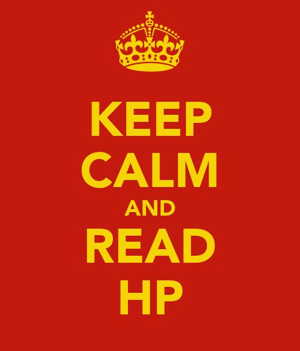 KEEP CALM AND READ HP