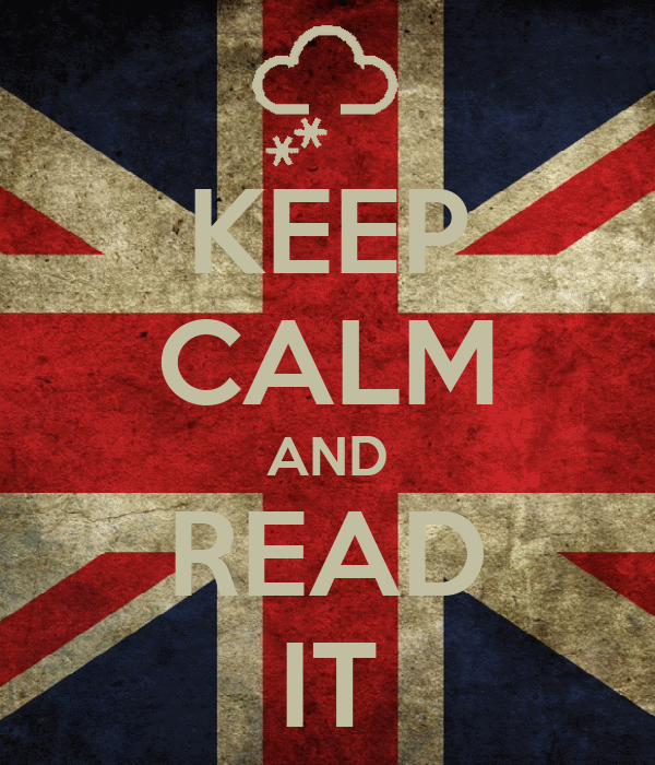 KEEP CALM AND READ IT