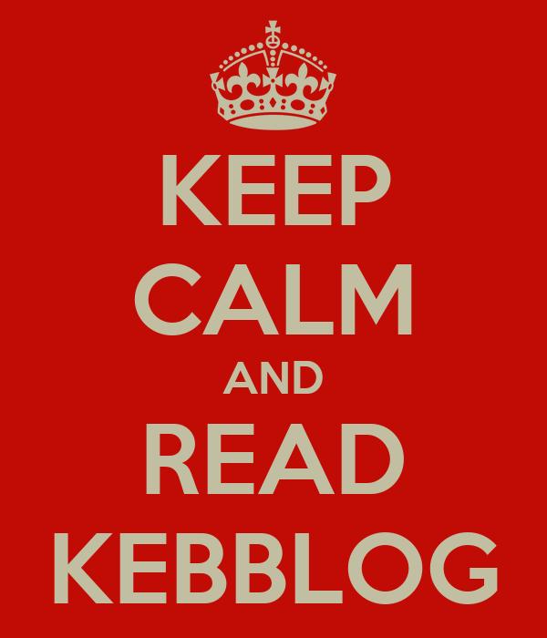 KEEP CALM AND READ KEBBLOG