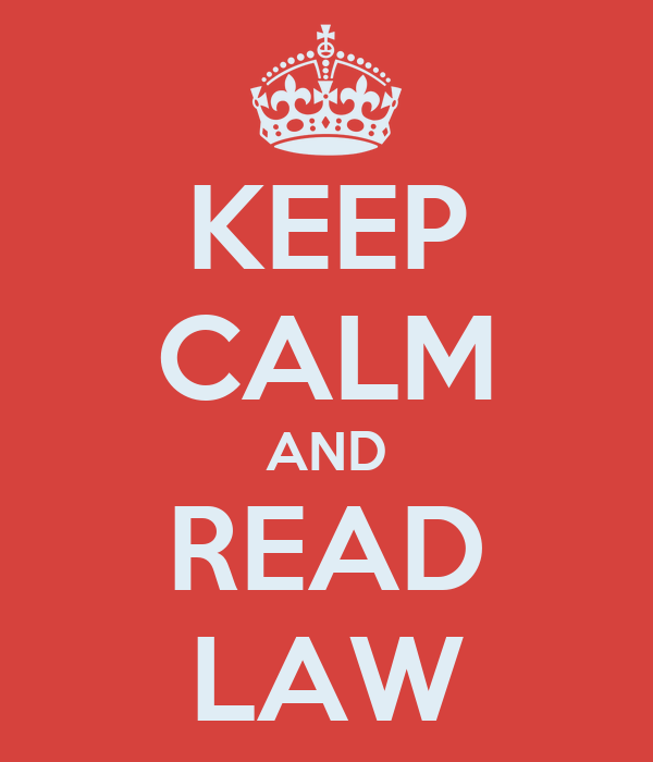 KEEP CALM AND READ LAW