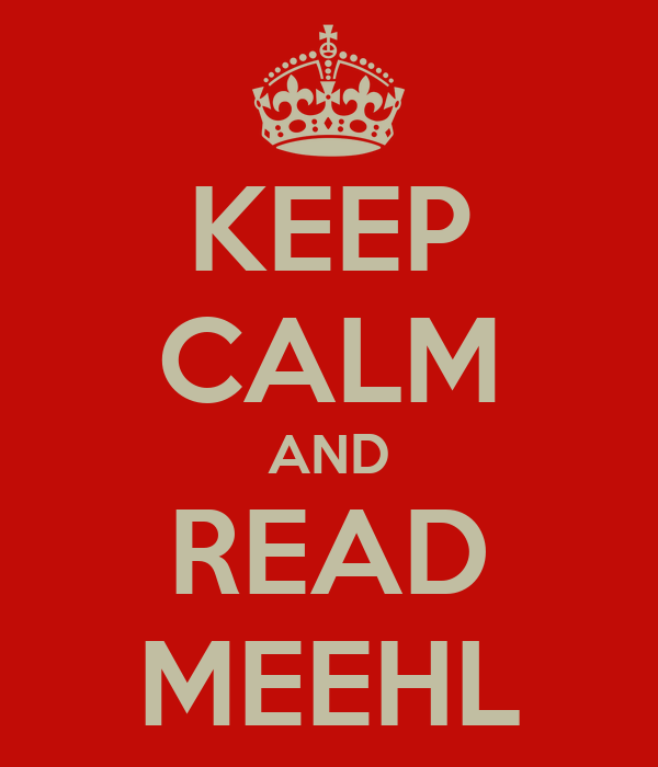 KEEP CALM AND READ MEEHL