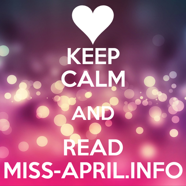 KEEP CALM AND READ MISS-APRIL.INFO