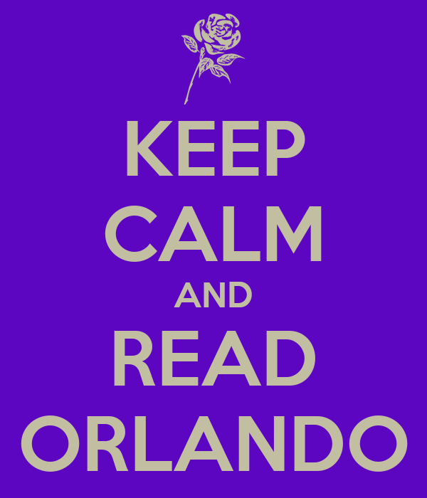 KEEP CALM AND READ ORLANDO