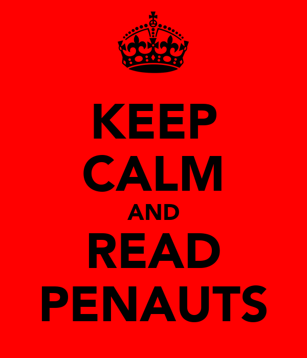 KEEP CALM AND READ PENAUTS