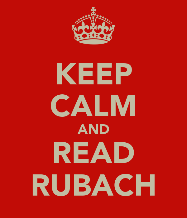 KEEP CALM AND READ RUBACH