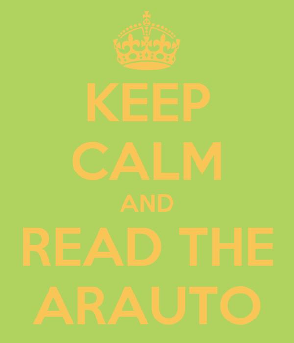 KEEP CALM AND READ THE ARAUTO