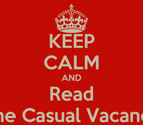 KEEP CALM AND Read The Casual Vacancy