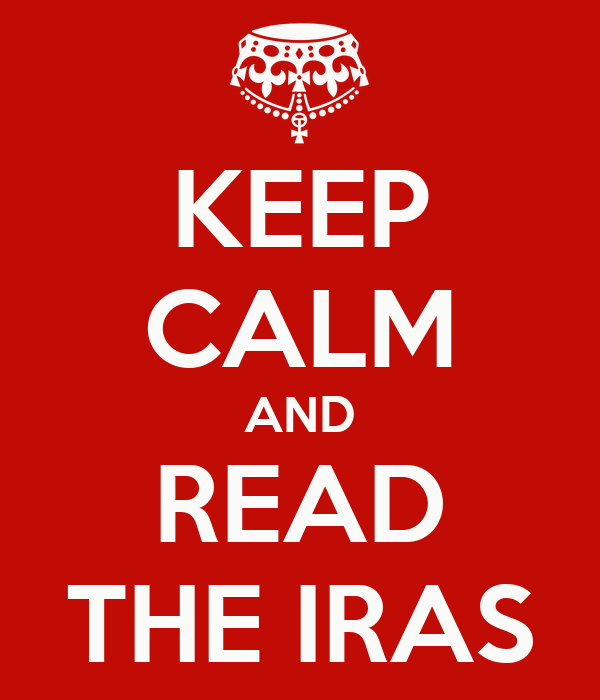 KEEP CALM AND READ THE IRAS