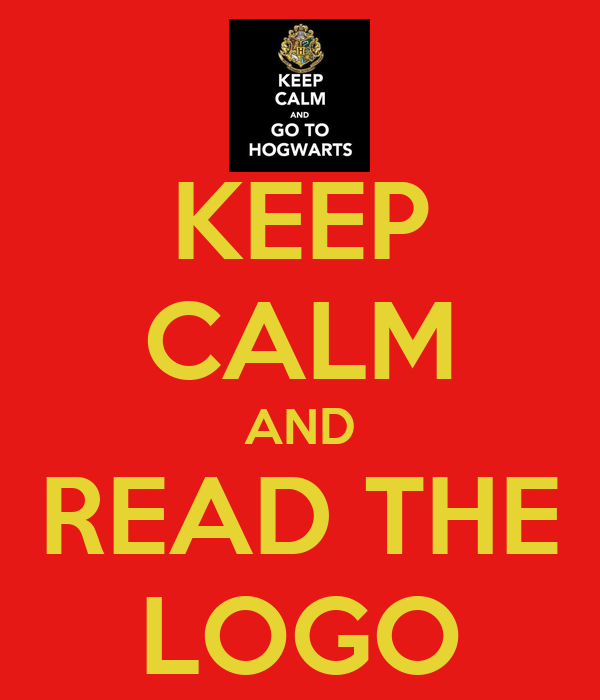 KEEP CALM AND READ THE LOGO